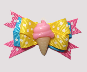 #BTQM863 - Mini Boutique Bow Little Sweetie, Pink Ice Cream