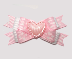 #BTQM873 - Mini Boutique Dog Bow Baby Pink, Sweetheart