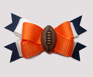 #BTQM877 - Mini Boutique Bow Denver Broncos Colors, Football