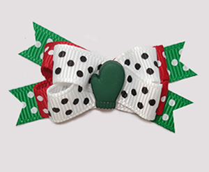 #BTQM883 - Mini Boutique Dog Bow Let It Snow, Green Mitten