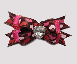 #BTQM889 - Mini Boutique Bow A Whole Lotta Love, Bling Heart