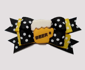 #BTQM908 - Mini Boutique Dog Bow A Brew For You