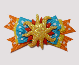 #BTQM909 - Mini Boutique Dog Bow Sparkly, Sizzlin' Summer Sun