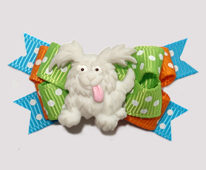 #BTQM924- Mini Boutique Dog Bow Bright 'n Cheery, Happy Pup