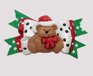 #BTQM931- Mini Boutique Bow Classic Holiday, Christmas Teddy