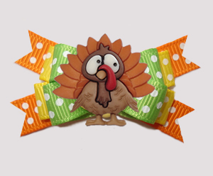 #BTQM935 - Mini Boutique Bow It's Thanksgiving Turkey Time!