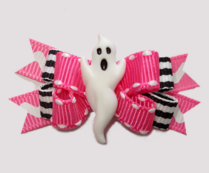 #BTQM970 - Mini Boutique Dog Bow Boo! Pretty Little Ghost