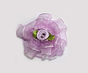 #BCLPBLM18 - Dog Hair Clip - Organza Bloom, Sweet Lavender