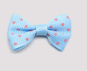 #CNG110- Dog Hair Clip - Clip 'n Go, Blue/Pink Dots