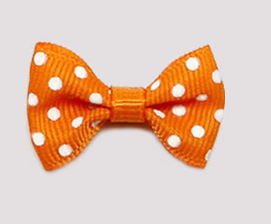 #CNG120- Dog Hair Clip - Clip 'n Go, Orange/White Dots