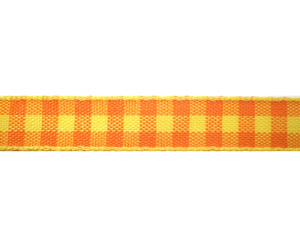 "#DIY38-0150 - 12"" of 3/8"" Ribbon - Candy Corn Plaid"