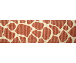 "#DIY58-0120 - 12"" of 5/8"" Ribbon - Giraffe Print - Click Image to Close"