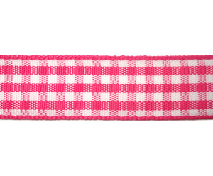 "#DIY58-0320 - 12"" of 5/8"" Ribbon- Pink/White Gingham"