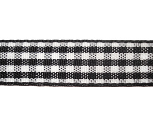 "#DIY58-0330 - 12"" of 5/8"" Ribbon- Black/White Gingham"