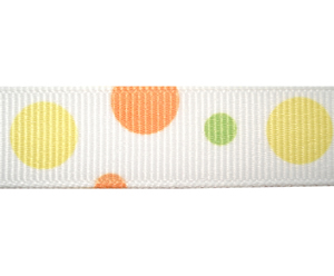 "#DIY58-0410 12"" of 5/8"" Ribbon Orange, Lemon, Lime Bubbles"
