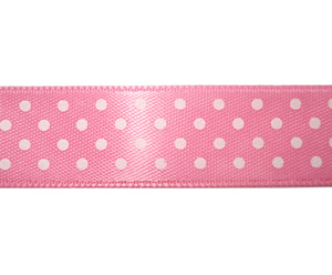 "#DIY58-0470 12"" of 5/8"" Ribbon Pink/White Sweetheart Dots"
