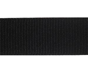 "#DIY78-0370 - 12"" of 7/8"" Ribbon - Classic Black Grosgrain"