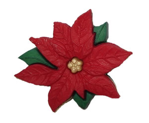 #DIYEM-4020 - Novelty Button Holiday Poinsettia