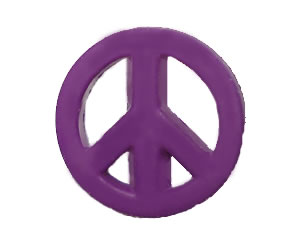 #DIYEM-4150 - Novelty Button Peace Sign; Purple