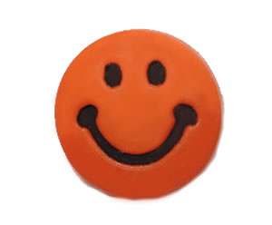 #DIYEM-4160 - Novelty Button Smiley Face; Orange