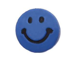 #DIYEM-4170 - Novelty Button Smiley Face; Blue
