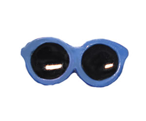 #DIYEM-4180 - Novelty Button Sunglasses; Blue