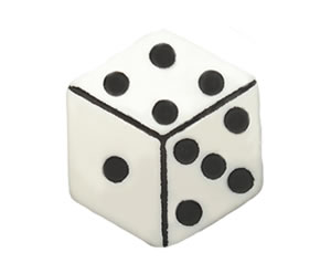 #DIYEM-4210 - Novelty Button Lucky Dice