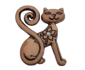 #DIYEM-4290 - Novelty Button Cool Cat