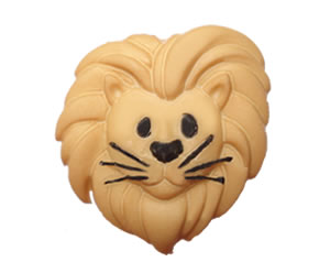#DIYEM-4340 - Novelty Button Friendly Lion
