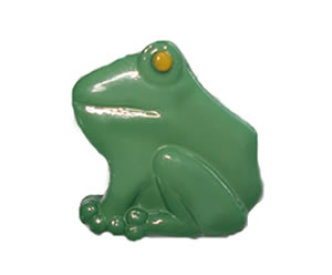 #DIYEM-4370 - Novelty Button Little Garden Frog