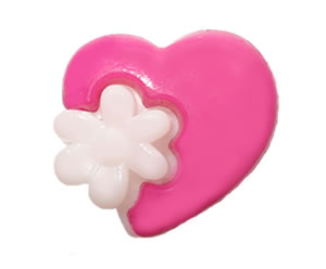 #DIYEM-4500 - Novelty Button Hot Pink Heart