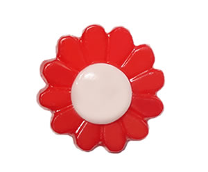 #DIYEM-4630 - Novelty Button Flower, Red - Click Image to Close