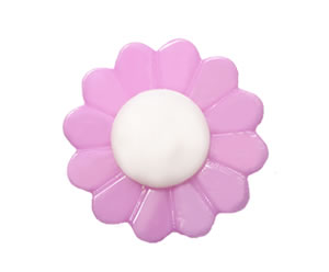 #DIYEM-4660 - Novelty Button Flower, Purple