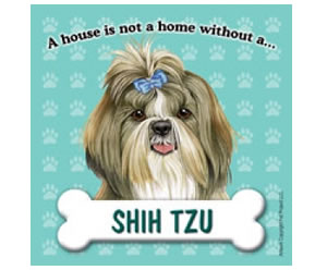 Fridge Magnet - Shih Tzu with Bow