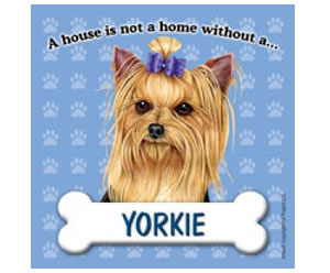 Fridge Magnet - Yorkie with Bow