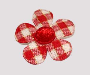 #FP0500 - Flower Power - Pretty Plaid, Picnic Red