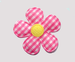 #FP1200 - Flower Power - Pretty Gingham, Hot Pink/Yellow