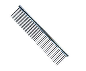 #G1965 - Durable, Stainless Steel Combination Comb, Silver