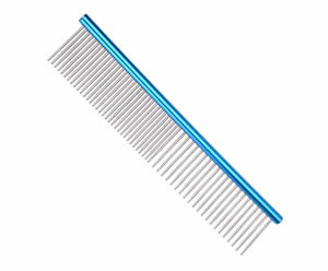 #G1972 - Durable, Stainless Steel Combination Comb, Blue