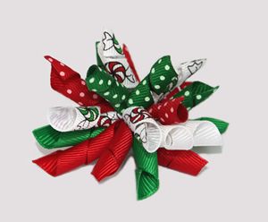 #KRK342 - Korker Dog Bow - Peppermint Christmas