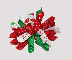 #KRK344 - Korker Dog Bow - Christmas Lollipops ' n' Dots