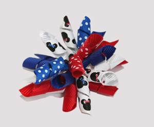 #KRK346 - Korker Dog Bow - Patriotic Minnie