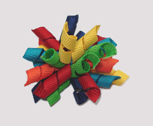 #KRKM330 - Mini Korker Dog Bow - Color Me Crayon