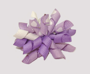 #KRKM360 - Mini Korker Dog Bow - Lovely Lavender Hearts