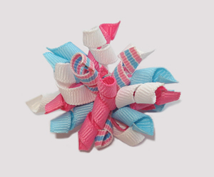 #KRKM390 - Mini Korker Dog Bow - Cotton Candy Girl