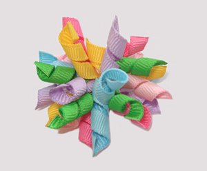 #KRKM420 - Mini Korker Dog Bow - Color Me Happy