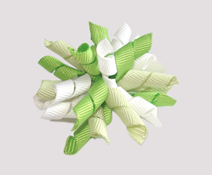 #KRKM520 - Mini Korker Dog Bow - Twist of Lime