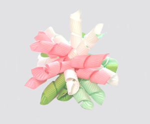 #KRKM590 - Mini Korker Dog Bow- Perfectly Pretty Pink/Mint