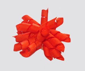 #KRKM600 - Mini Korker Dog Bow- Vibrant Orange