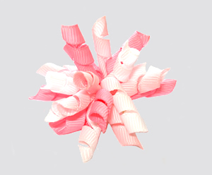 #KRKM650 - Mini Korker Dog Bow - Shades of Pink/White